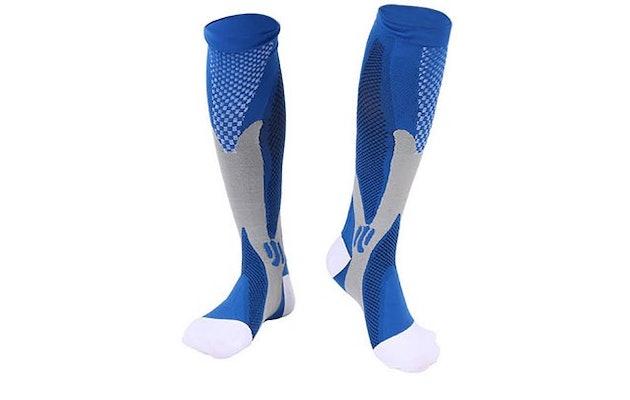 sport-compressie-sokken-blauw